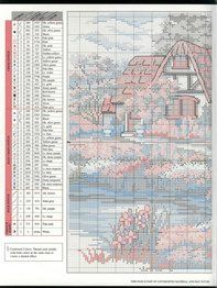 Cross-stitch Cottage, part 2 with color chart