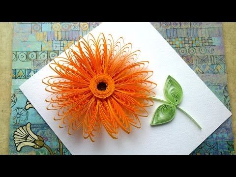 Quilling Flowers Tutorial: Quilling flowers wiht a comb tutorial. Quilling art. - YouTube