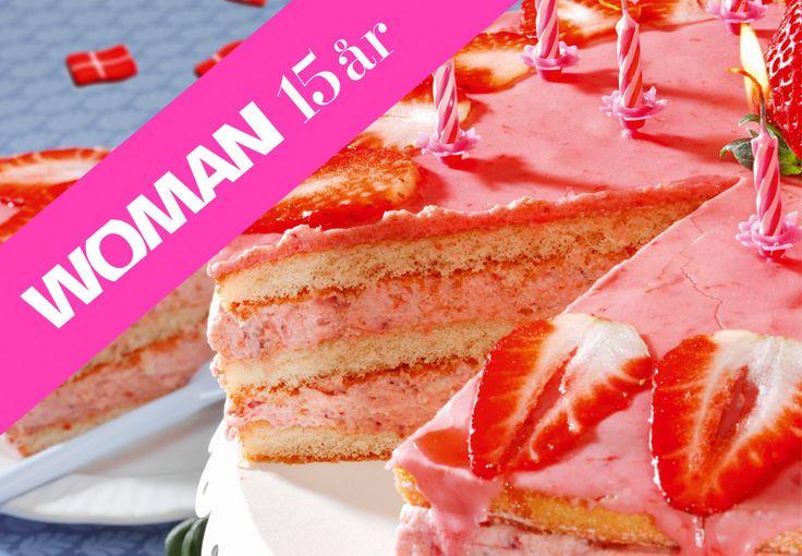 Lækker lagkage med jordbær - Woman.dk