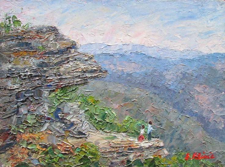 The Balconies, Grampians National Park, Victoria Australia Original Impressionist Oil Painting by Enoch Hlisic