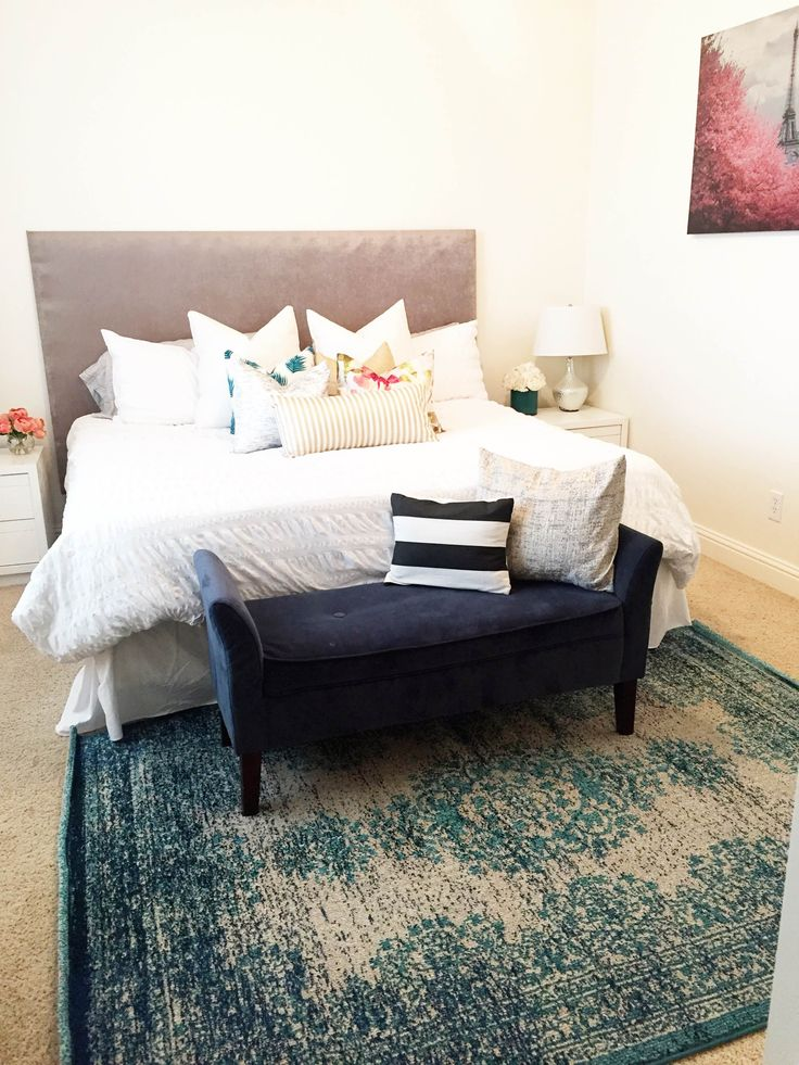 Master Bedroom Refresh By Salted Sisters With Rugs Usa S Chroma Cb06 Speckled Medallion