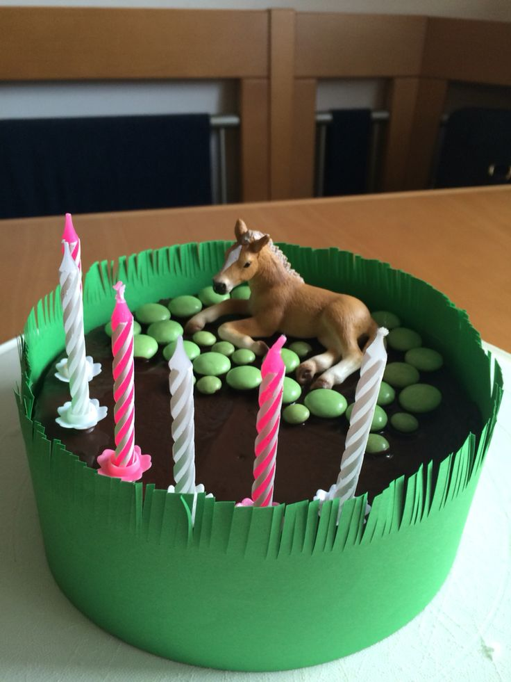 Kinder Geburtstag            Pferde Party Kuchen