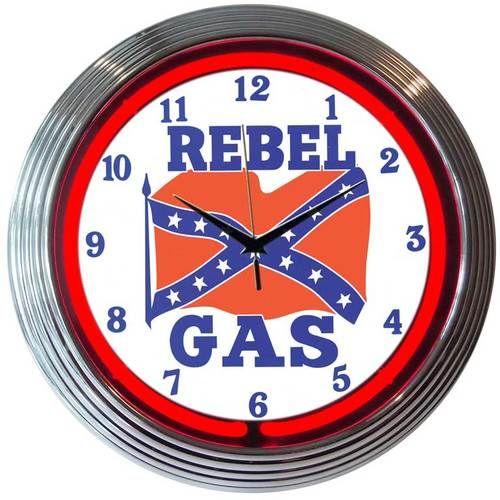 Rebel Gas Neon Clock