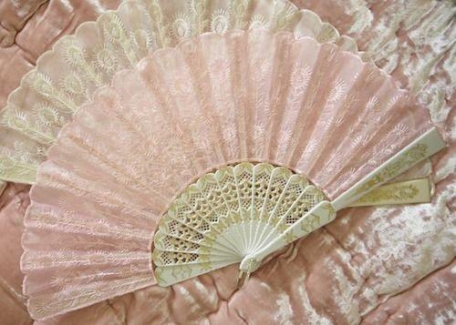 pink lace fan
