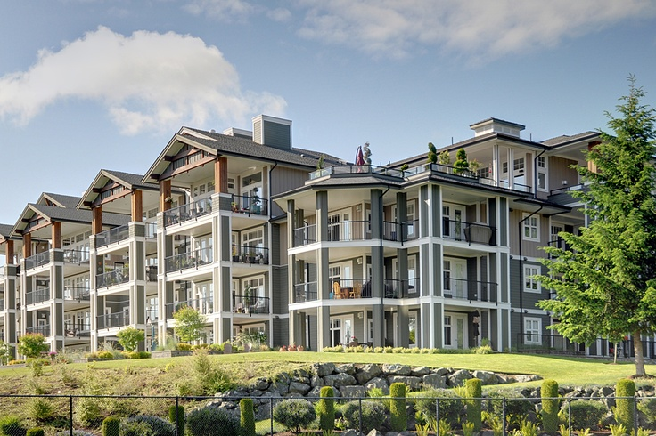 View from tennis courts looking up at the corner unit #luxury #seaside #penthouse which is now available for $879,000. Get more information at http://parksvillequalicumrealtor.com