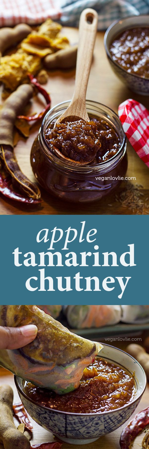 Apple tamarind chutney, sweetened with dates and jaggery. Use as a dipping sauce or alternative to bbq sauce. Watch the video - https://youtu.be/UcCVpgjs3Z0
