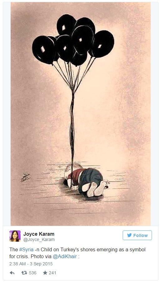 Heartbreaking Cartoons From Artists All Over The World Mourning The Drowned Syrian Boy. #HeartForSyria