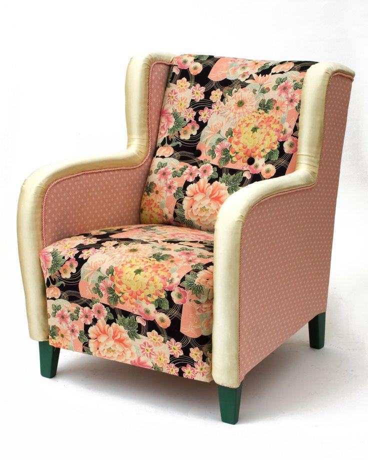 Reupholstered old furniture