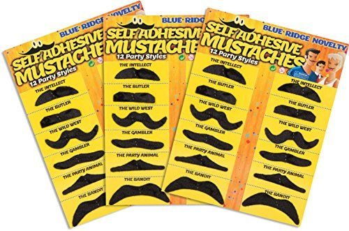 Allures & Illusions Fake Mustache Novelty and Toy, Pack of 36 Mustaches Allures & Illusions http://www.amazon.com/dp/B0087FMSNM/ref=cm_sw_r_pi_dp_PTTjvb0MCFPG6