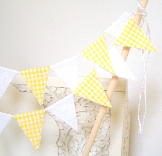 Bunting similar to what we had at our gender reveal party!