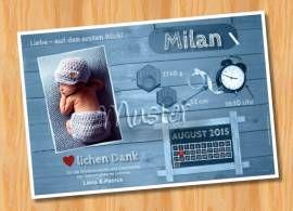 Danksagungskarten Geburt Geburtskarte MUSTER 137 - Bild vergrößern