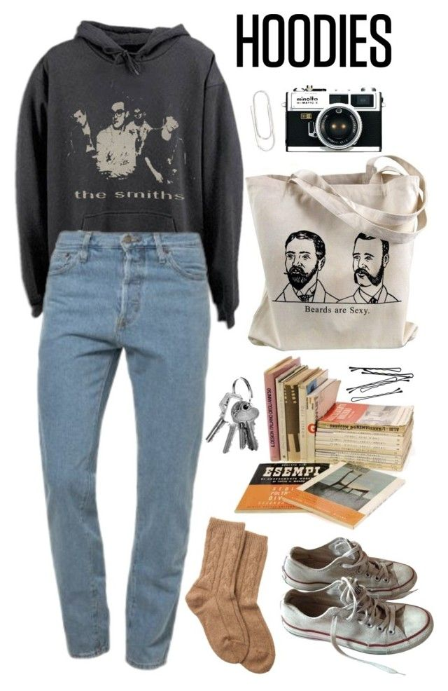 """Untitled #21"" by alexmazarakh on Polyvore featuring American Apparel, Converse, BOBBY, Bamford, Ross-Simons and Hoodies"