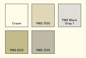 Pantone Warm Gray 1C (lys varm grå)