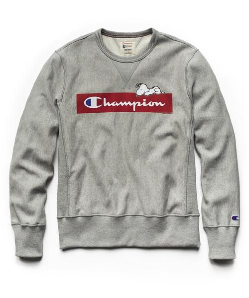 505507096 Champion X Peanuts Chilling Snoopy Sweatshirt in Light Grey Mix- for Jayden,  size M