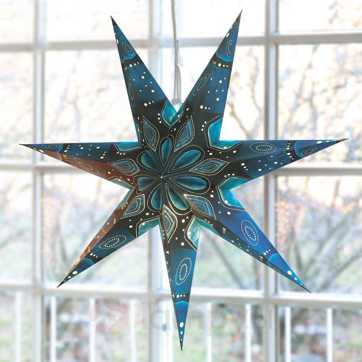 Papierowa gwiazda w niebieskich odcieniach, 75 cm 4523310