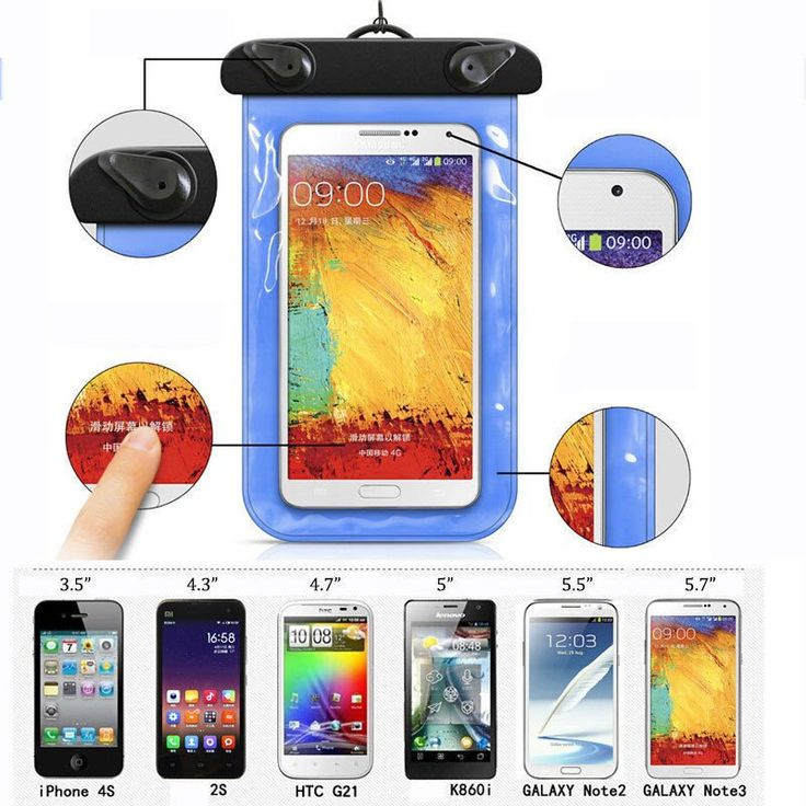 Waterproof Pouch for iPhone 6 Water Proof Diving Bags Outdoor Mobile Phone Cases Underwater Phone Bag with Neck Strap