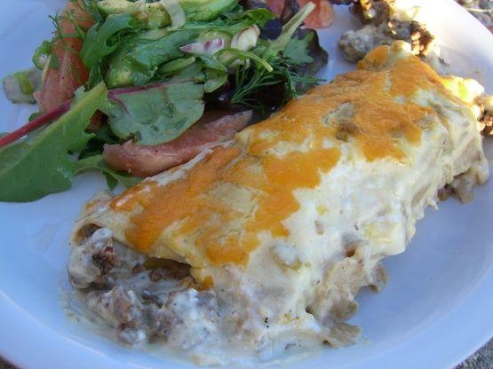 Sour Cream Beef Enchiladas Recipe - Mexican.Food.com: Food.com