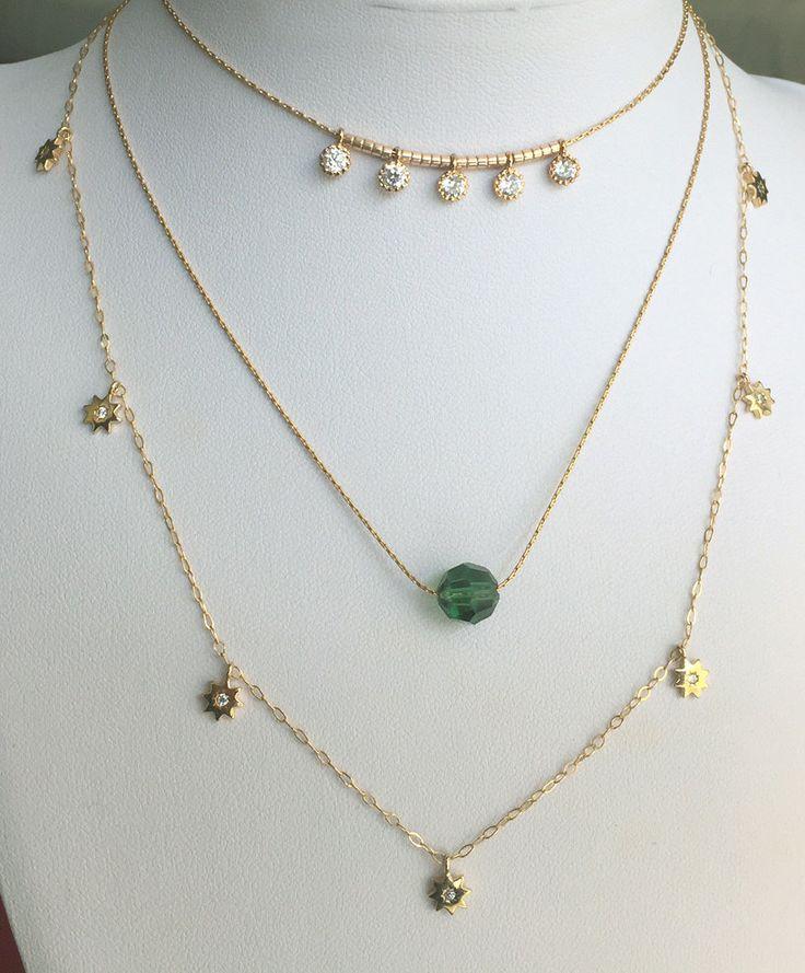 Choker necklace Dainty dangle necklace Dainty Gold Choker layering choker necklace, Diamond choker Layering necklace Minimalist gold choker by Eliyan on Etsy