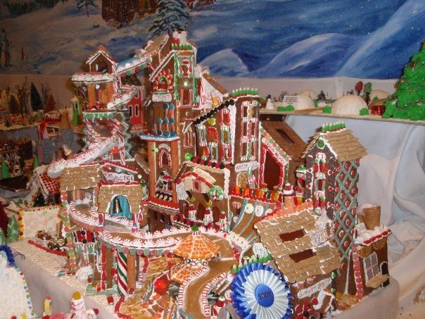 105 best gingerbread house village scenes images on for Gingerbread house decorating ideas