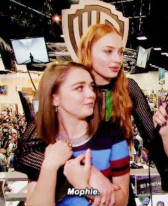 They've even given themselves a joint name, they're so close. | 31 Times Maisie Williams And Sophie Turner Redefined Friendship Goals
