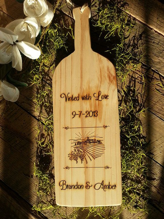 Rustic Cutting Board Rustic Wedding Gift Favor Anniversary Gift Woodb ...