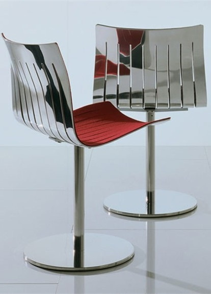 Swivel Aluminium Chair AIRY By Acerbis International