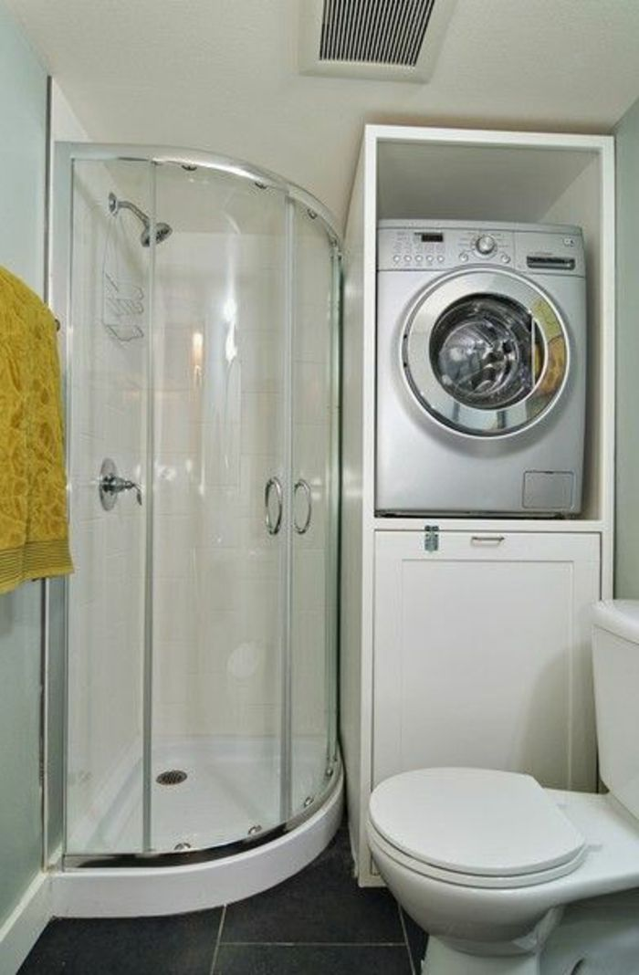 Best 25 stackable washer and dryer ideas on pinterest for Amenagement salle de bain petite surface