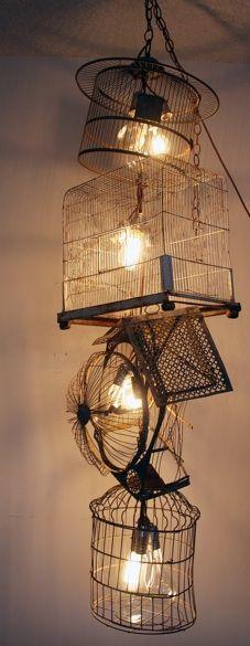 Birdcage Chandelier Upcycle