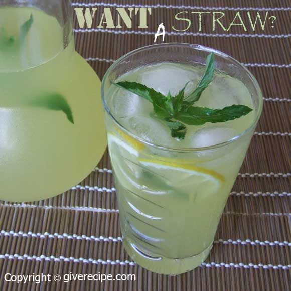 The best lemonade with ginger and fresh mint   giverecipe.com   #lemonade #lemon #citrus #ginger
