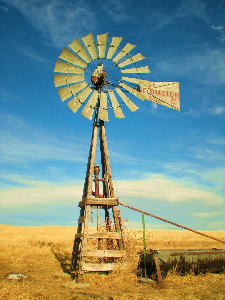 Old windmill on the ranch in Montana. Again, this photo is not edited. Loved how this one came out.