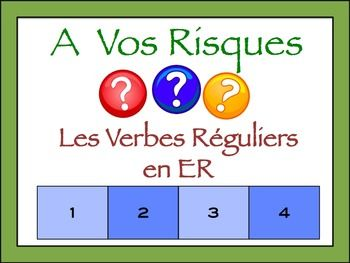 Interactive French Powerpoint Writing Activity with Regula
