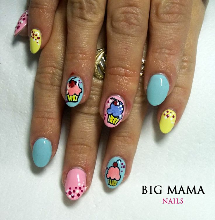 Babeczki cupcakes #nail #nails #nailart #paznokcie