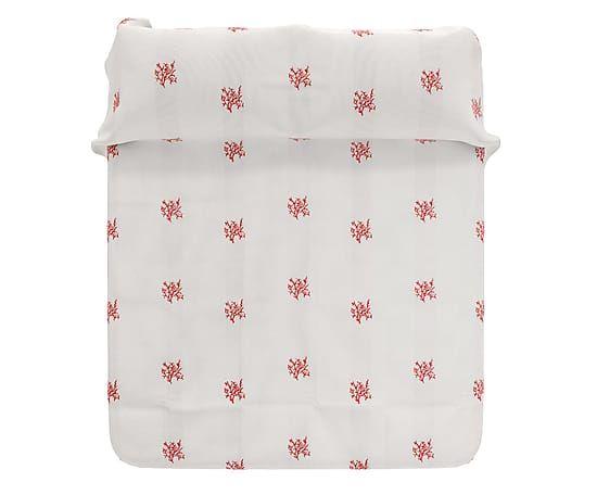 Copriletto matr. in cotone Bali rosso - 260x280 cm