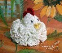 Very fun crochet Easter chicken... so fluffy... photo tutorial, but pattern in Russian.