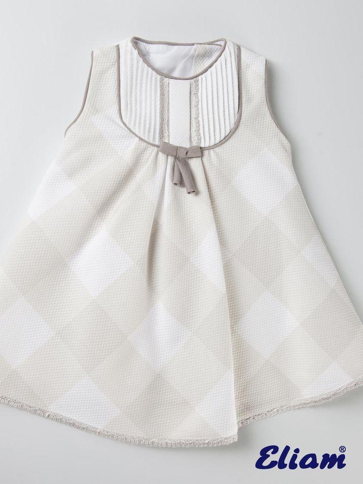Vestido piqué de cuadros - Productos bebé de siempre - Bebé de siempre - Tienda de ropa infantil Eliam