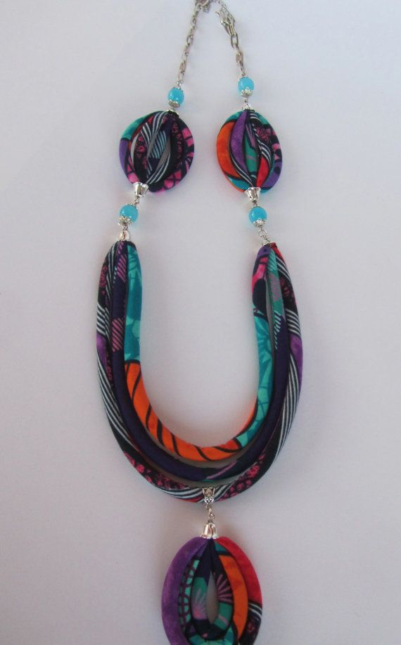 Long necklace/ coloful necklace/ african /pendant necklace/ purple/ red / orange…