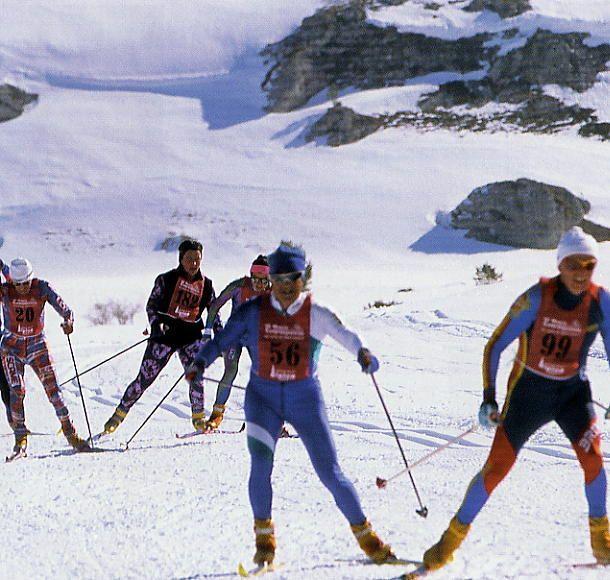 Sciatori in gara