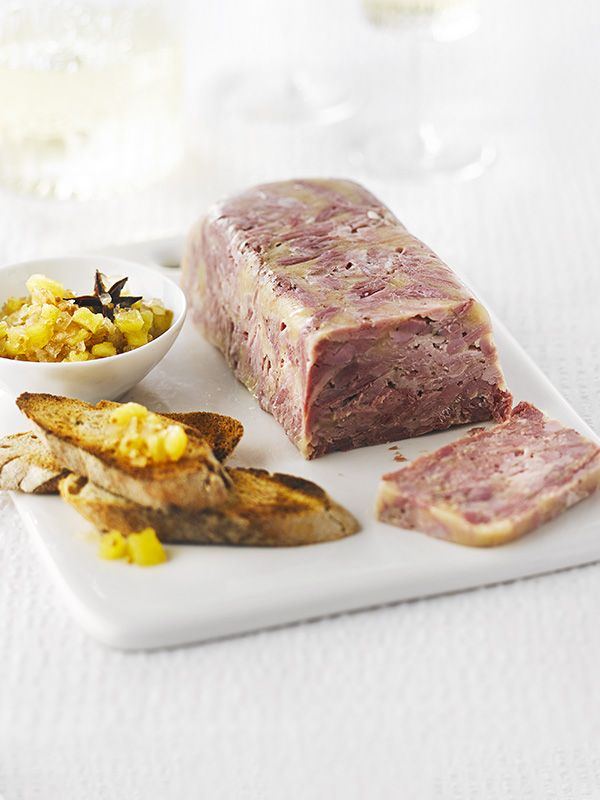 ham hock terrine with spiced pineapple-ginger relish