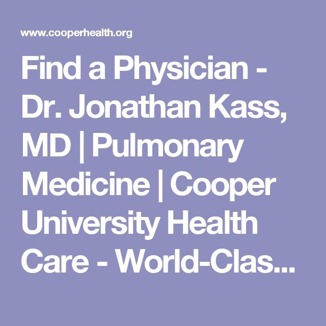 Find a Physician - Dr. Jonathan Kass, MD | Pulmonary Medicine | Cooper University Health Care - World-Class Healthcare for South Jersey, Philadelphia and the Delaware Valley