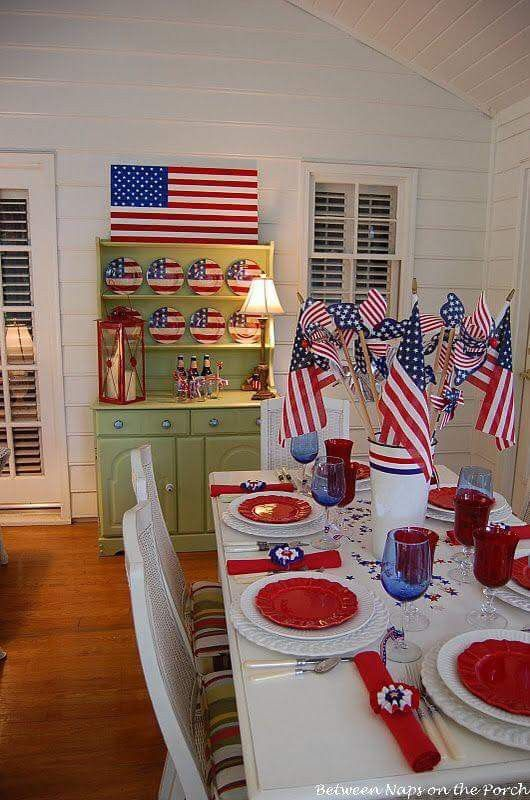 Pin By Leanna Mclean On 4th Of July Party Tabletops