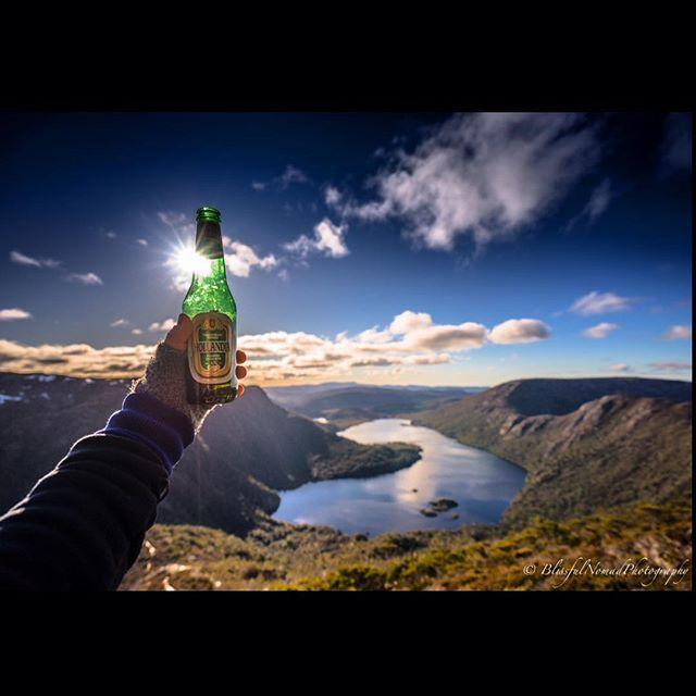Enjoying a beer high up in Cradle Mountain National Park via http://buff.ly/1TmNG7R?utm_content=buffer7d37b&utm_medium=social&utm_source=pinterest.com&utm_campaign=buffer