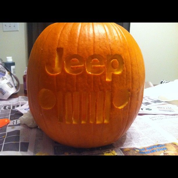 Jeep Pumpkin Halloween Next Year Jeeps Pinterest