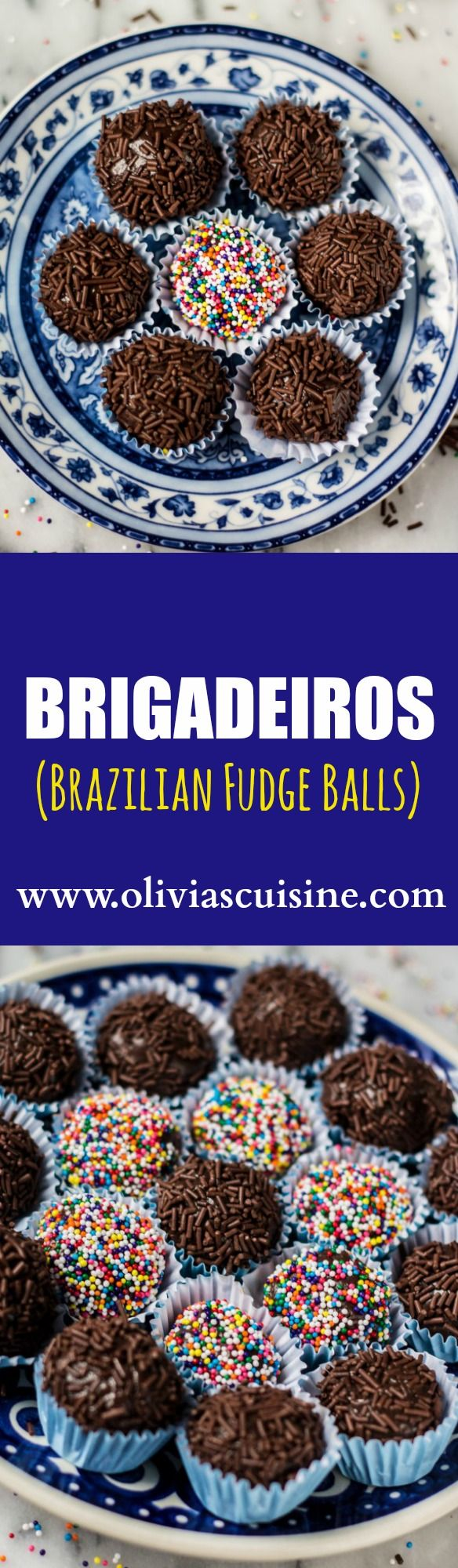 Traditional Brigadeiro (Brazilian Fudge Balls) | www.oliviascuisine.com | Brazil's favorite dessert: brigadeiro. Chocolate fudge balls made with sweet condensed milk, butter and cocoa powder. So addicting!