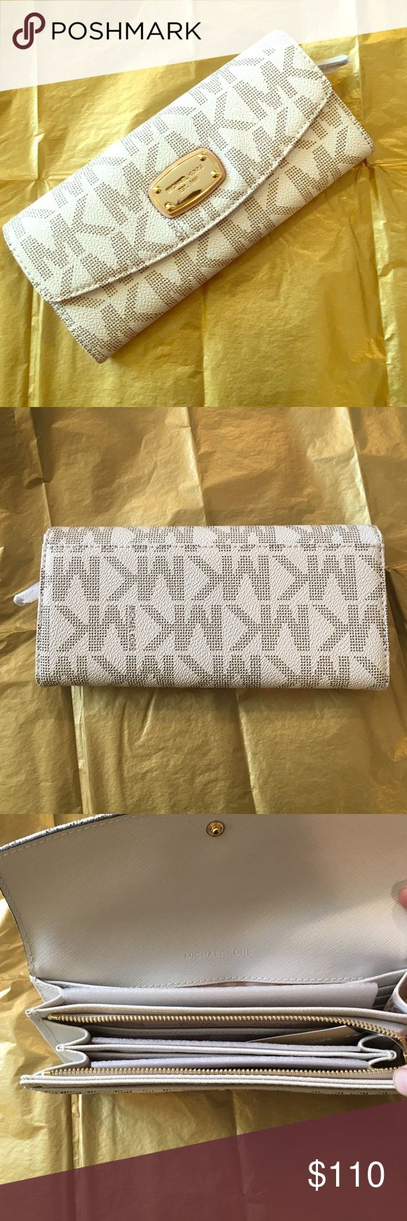 NWT 🔥Michael KORS JETSET wallet In Vanilla 🌟Brand new with tags! JETSET Michael KORS Vanilla Slim Flap Wallet. Beautiful Wallet, classic look ❤️️❤️️Valentine's Day 🎁❤️️❤️️ Michael Kors Bags Wallets