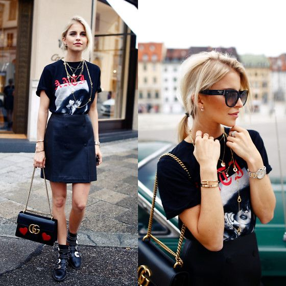 Caro Daur - Rihanna Merch, Gucci Marmont, Givenchy Shoes, Prada Sunnies, Cartier…