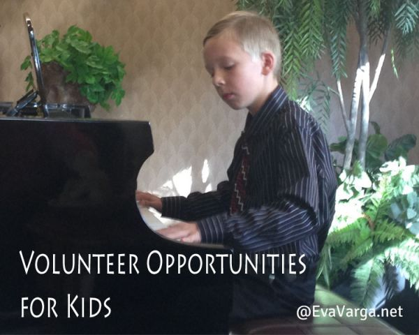 Volunteer Opportunities for Kids @EvaVarga.net