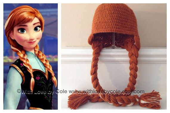 Frozen+Anna+Inspired+Crochet+Hat+with+Braids+by+WithLoveByCole,+$25.00