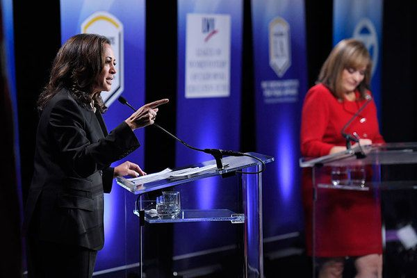 The race for California's open US Senate seat features two Democrats: a woman of black and Asian descent and a Latina.
