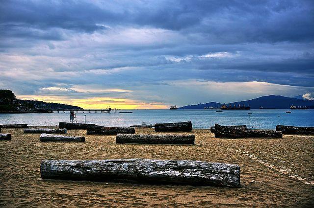 Kitsilano Beach in Vancouver by TOTORORO.RORO, via Flickr