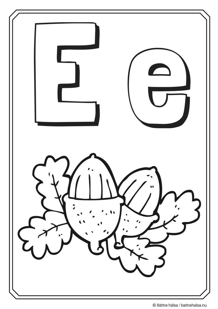 Färglägg bokstaven E!Du får jättegärna ladda ner aktivitetsbladet för privat bruk och som till exempel skolmaterial. Däremot får du inte ladda ner det och ladda upp det som innehåll på din egen we...